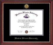 Gold Engraved Medallion Diploma Frame in Kensington Gold