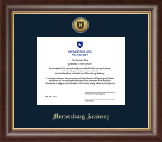 Gold Engraved Shield Medallion Diploma Frame in Hampshire