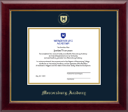 Gold Embossed Shield Diploma Frame in Gallery