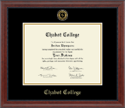 Gold Engraved Medallion Diploma Frame in Signature