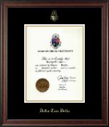 Delta Tau Delta Fraternity Embossed Certificate Frame in Studio