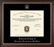 Gold Embossed Certificate Frame in Studio Gold
