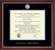 Pewter Masterpiece Medallion Diploma Frame in Kensington Silver
