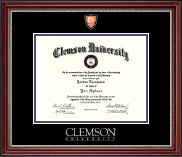 Shield Masterpiece Medallion Diploma Frame in Kensington Silver