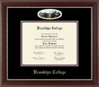 Brooklyn College Campus Cameo Diploma Frame in Chateau