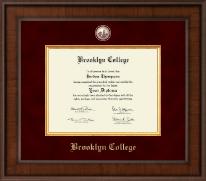 Brooklyn College Presidential Masterpiece Diploma Frame in Madison