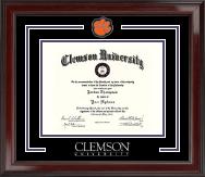 Clemson University Spirit Medallion Diploma Frame in Encore
