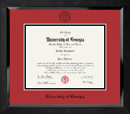 """Winning Colors"" - Black Embossed Diploma Frame in Eclipse"