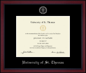 Silver Embossed Achievement Edition Diploma Frame in Academy