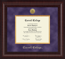 Carroll College at Montana Presidential Gold Engraved Diploma Frame in Premier