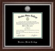 Silver Engraved Medallion Diploma Frame in Devonshire