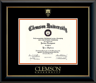 Shield Gold Embossed Diploma Frame in Onyx Gold