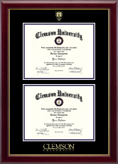 Shield Double Diploma Frame in Gallery