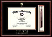Clemson University Shield Tassel Edition Diploma Frame in Southport