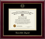 PTIN Directory Inc. Enrolled Agent Gold Embossed Certificate Frame in Gallery