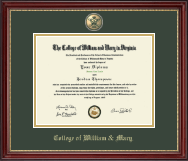 Masterpiece Cypher Logo Medallion Diploma Frame in Kensington Gold