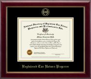 Registered Tax Return Preparer Gold Embossed Certificate Frame in Gallery
