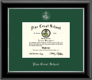 Silver Embossed Diploma Frame in Onyx Silver