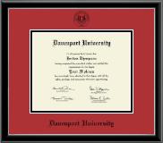 Black Embossed Diploma Frame in Onexa Silver