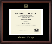 Grinnell College Gold Embossed Diploma Frame in Regency Gold