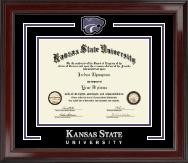Kansas State University Spirit Medallion Diploma Frame in Encore