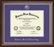 Kansas State University Masterpiece Medallion Diploma Frame in Devonshire