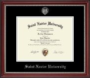 Silver Embossed Diploma Frame in Kensington Silver