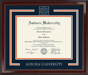 Auburn University Spirit Medallion Diploma Frame in Encore
