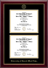 Double Document Diploma Frame in Gallery