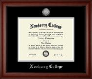Silver Engraved Medallion Diploma Frame in Cambridge