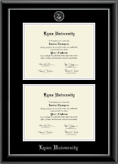 Double Diploma Frame in Onyx Silver
