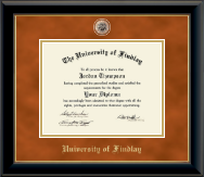 Brass Masterpiece Medallion Diploma Frame in Onyx Gold