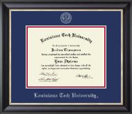 Silver Embossed Diploma Frame in Noir