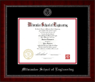 Silver Embossed Diploma Frame in Sutton