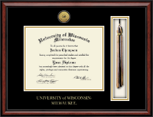 Tassel Gold Engraved Medallion Edition Diploma Frame in Southport