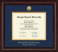 Georgia Regents University Presidential Gold Engraved Diploma Frame in Premier
