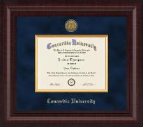 Concordia University Portland Presidential Gold Engraved Diploma Frame in Premier