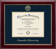 Concordia University Portland Gold Embossed Diploma Frame in Gallery