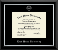 Lock Haven University Silver Embossed Diploma Frame in Onyx Silver