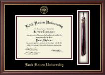 Lock Haven University Tassel Edition Diploma Frame in Newport