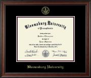 Bloomsburg University Gold Embossed Diploma Frame in Studio