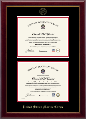 Double Document Certificate Frame in Gallery