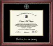 Masterpiece Medallion Certificate Frame in Kensington Gold
