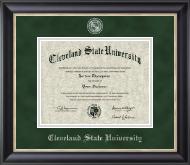 Pewter Masterpiece Medallion Diploma Frame in Noir
