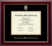 Grambling State University Masterpiece Medallion Diploma Frame in Gallery