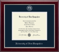 University of New Hampshire at Manchester Masterpiece Medallion Diploma Frame in Gallery Silver