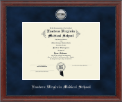 Silver Engraved Medallion Diploma Frame in Signature