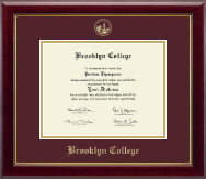 Brooklyn College Gold Embossed Diploma Frame in Gallery