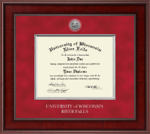 Presidential Silver Engraved Diploma Frame in Jefferson