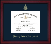 Gold Embossed Achievement Edition Diploma Frame in Academy